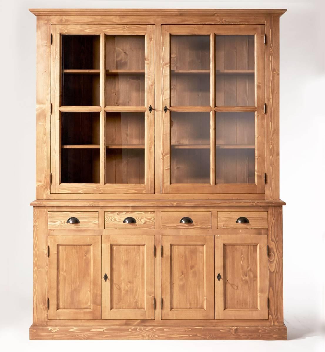 meuble vaisselier bois massif cire miel le blog d co de made in meubles. Black Bedroom Furniture Sets. Home Design Ideas