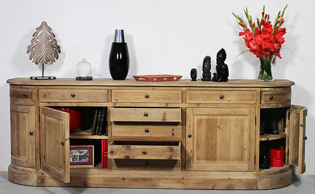 La gamme bois recycl made in for Meuble tv en bois recycle
