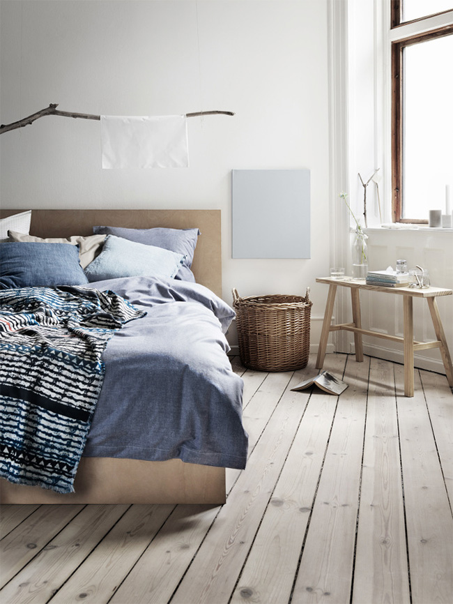 chambre style scandinave bleu. Black Bedroom Furniture Sets. Home Design Ideas