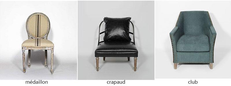 fauteuil medaillon club