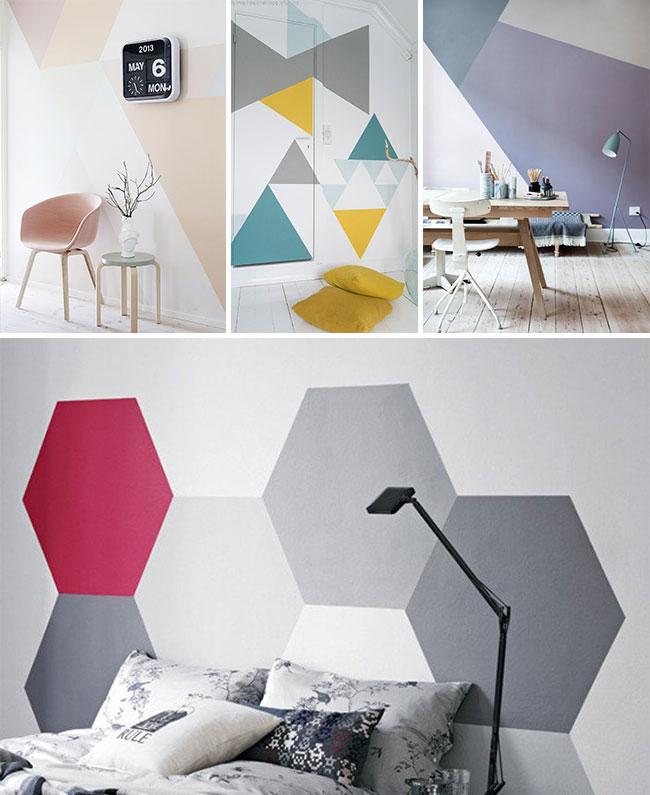 19 id es d co pour habiller un mur blog made in meubles for Mur geometrique