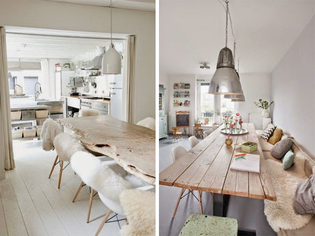 Id es d co pour un salon style scandinave made in for Deco salon bois et blanc