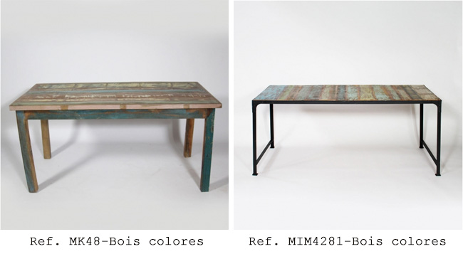 Choisir sa table manger industrielle made in meubles - Table haute industrielle bois ...