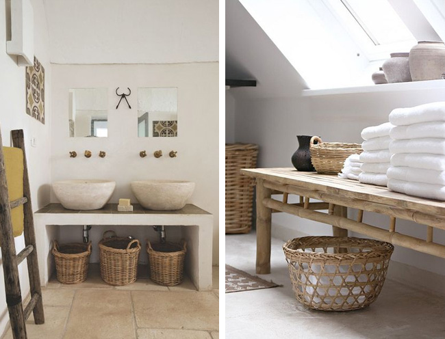 Idées déco pour une salle de bain nature / zen | MadeinMeuble