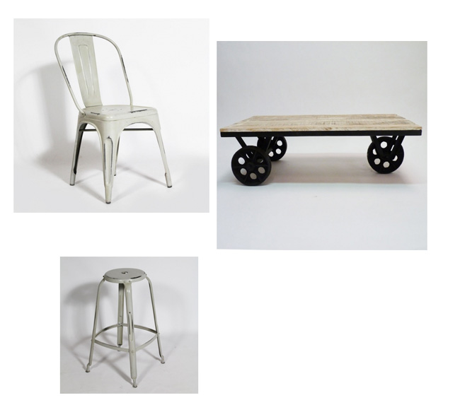 deco industrielle blanc. Black Bedroom Furniture Sets. Home Design Ideas