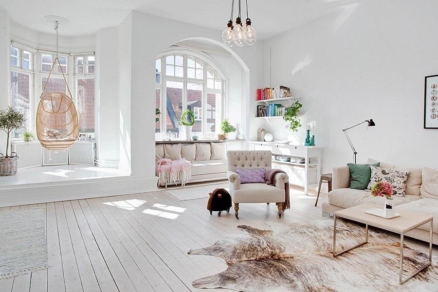 Conseils déco pour un salon blanc total look  Made in Meubles