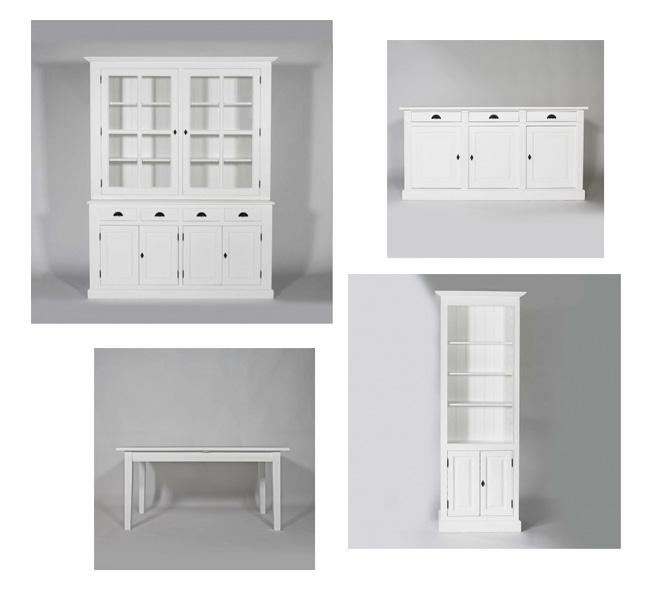Conseils d co pour un salon blanc total look made in meubles - Meubles blancs vieillis ...