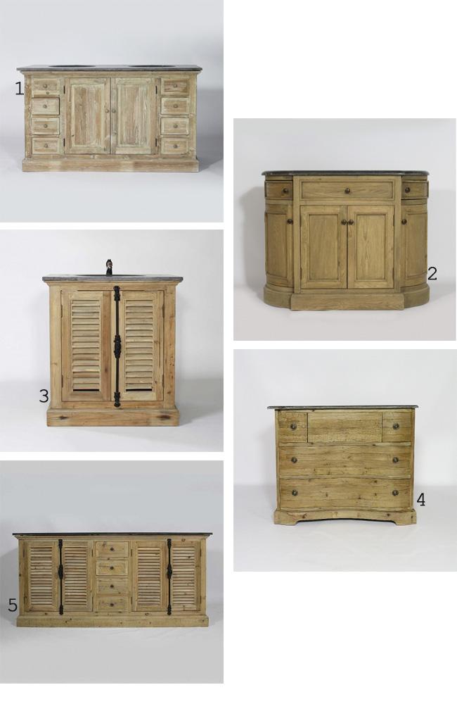 Id es d co pour une salle de bain nature zen madeinmeuble - Meuble pin salle de bain ...