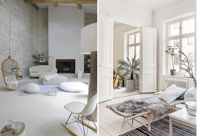 Conseils d co pour un salon blanc total look made in meubles - Decoration salon moderne blanc ...