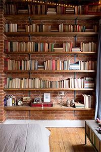 bibliotheque mur entier