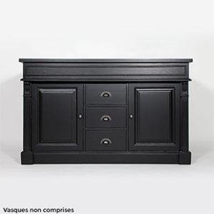 meuble salle bain noir