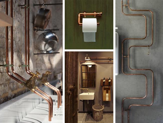 Salle de bain industrielle : inspiration