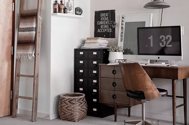 Bureau industriel nos id es d co made in meubles for Idee bureau deco