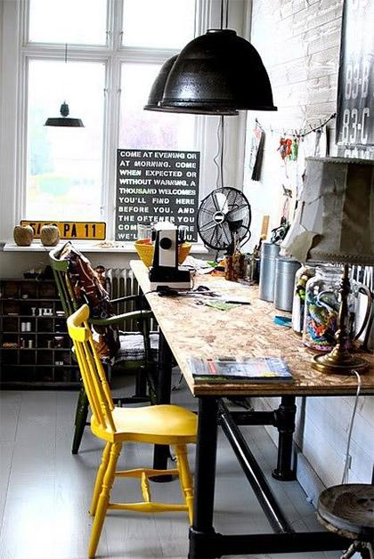 Bureau industriel nos id es d co made in meubles - Idee deco bureau ...