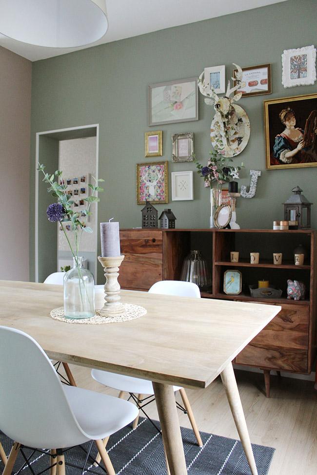 salon mur vert