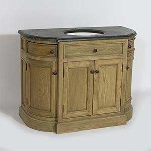 meuble salle de bain chene
