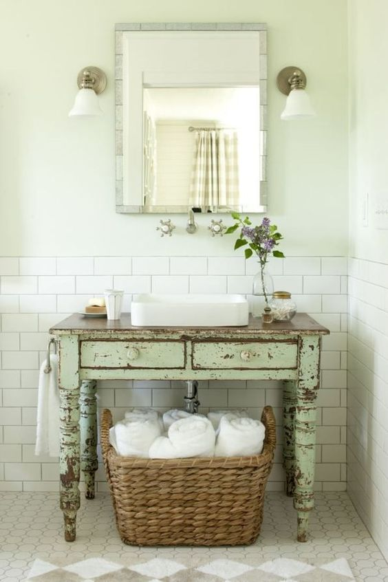 Ma salle de bain vintage le blog d co de made in meubles for Meuble antique a donner