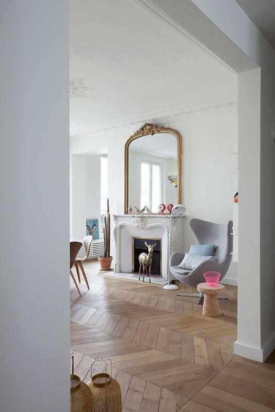 cheminee miroir