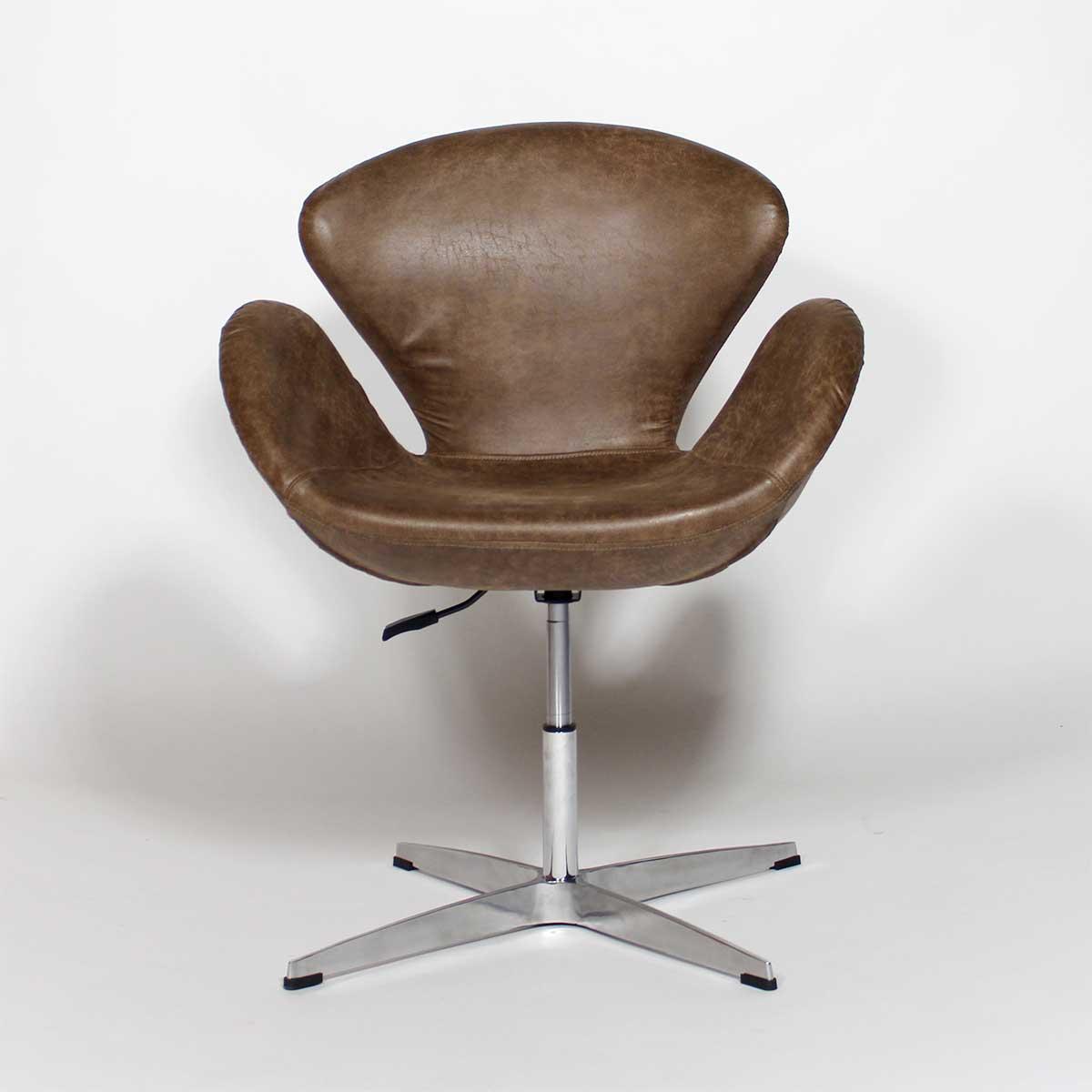 fauteuil cuir relax marron