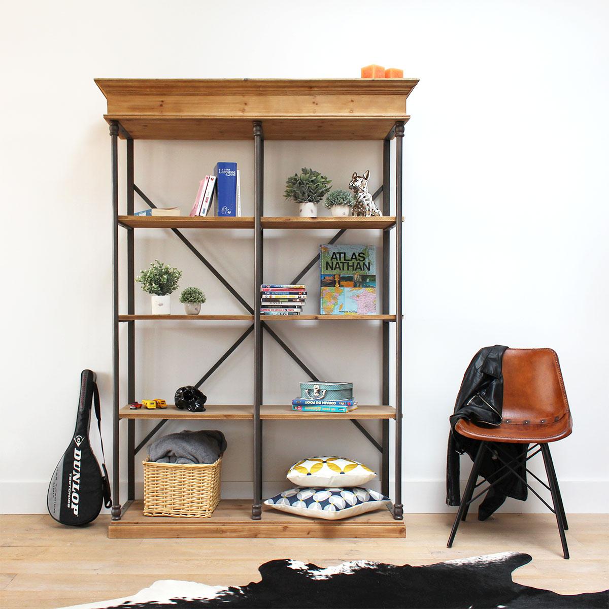 conseils d co pour revisiter une biblioth que avec des tag res. Black Bedroom Furniture Sets. Home Design Ideas