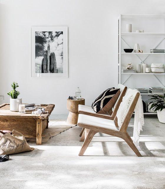 salon bois massif