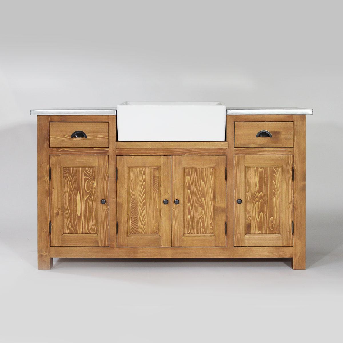 meuble evier cuisine bois massif