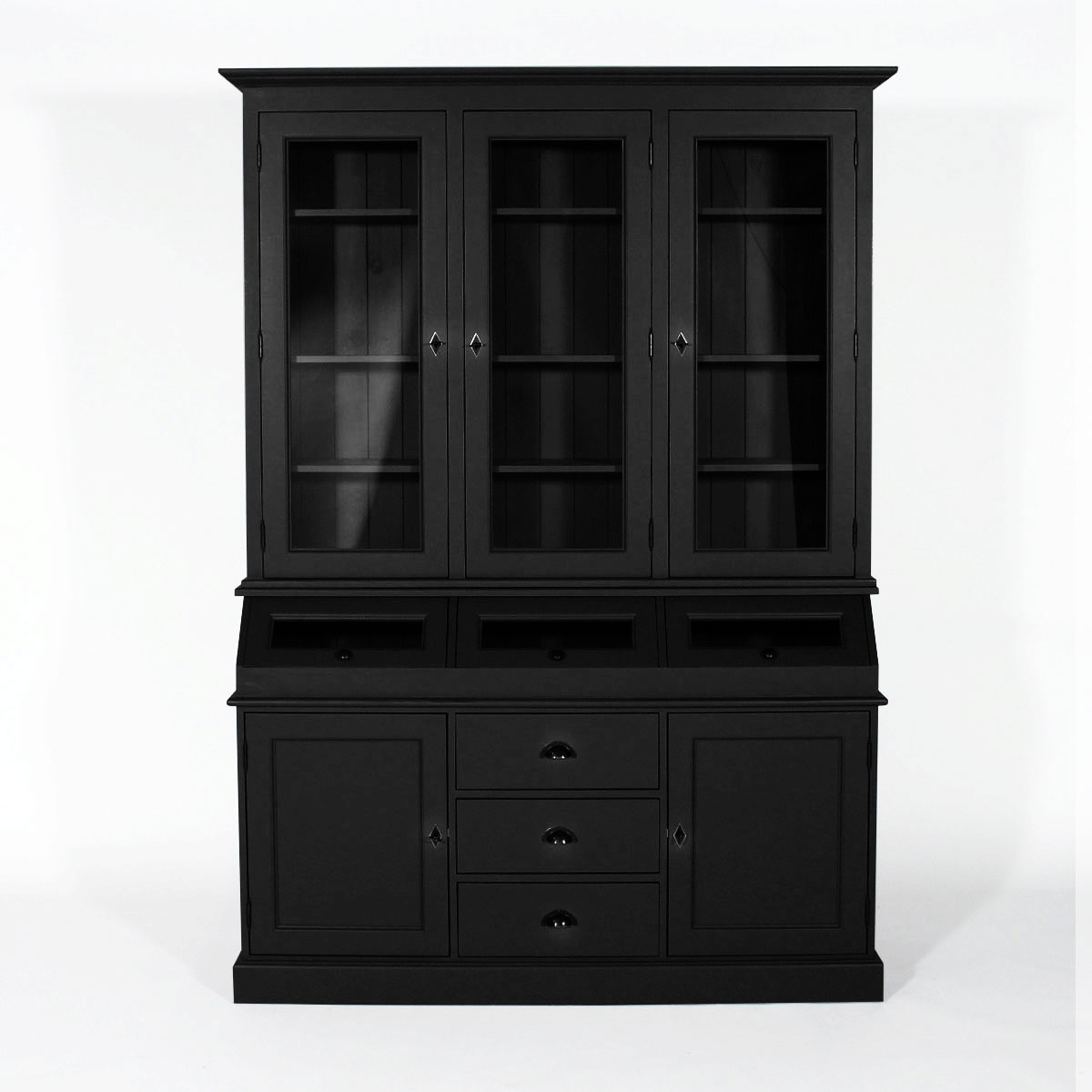 j 39 ose le noir dans ma cuisine type industriel le blog d co de made in meubles. Black Bedroom Furniture Sets. Home Design Ideas
