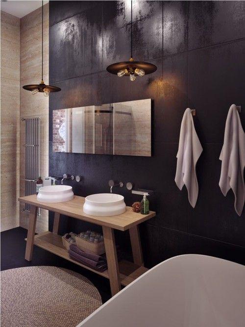 meuble salle de bain double vasque contemporaine