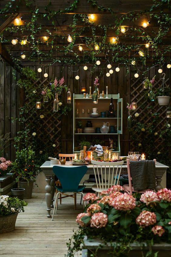 veranda plantes fleurs