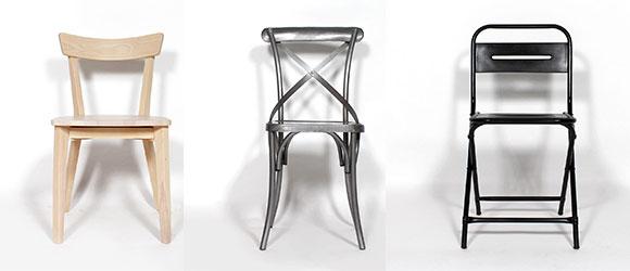 chaises industrielles metal