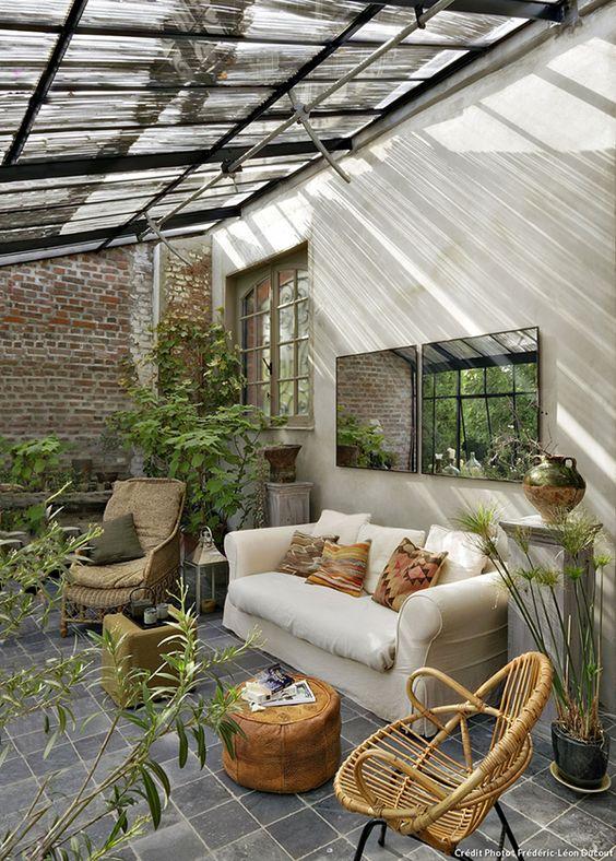 veranda plantes cosy