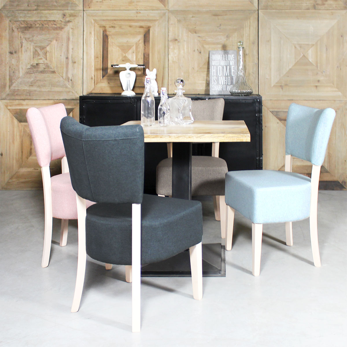chaise style fauteuil scandinave depareillees