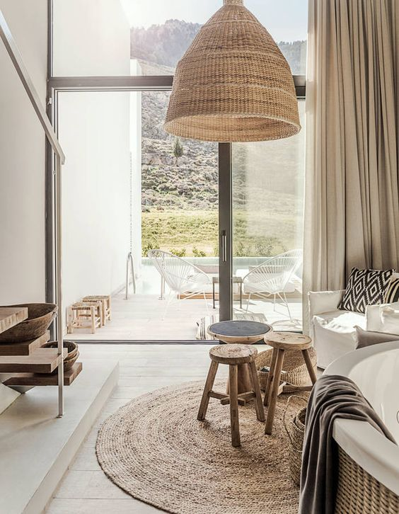 interieur rotin bois