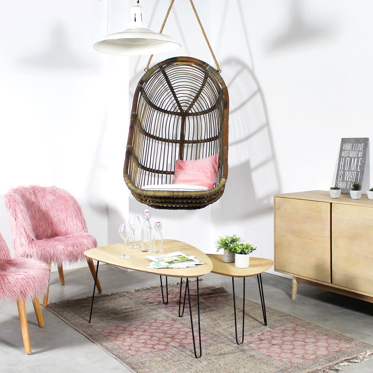 fauteuil suspendu plafond