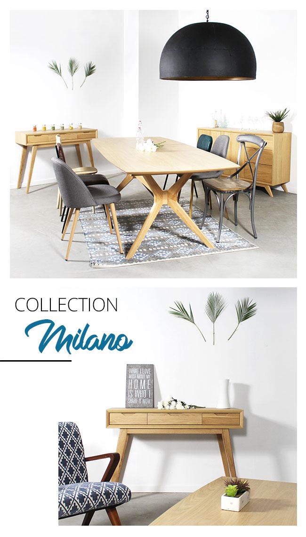 collection moderne scandinave bois clair haut de gamme