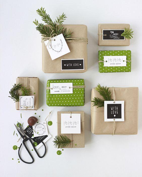 papier cadeau fete facile