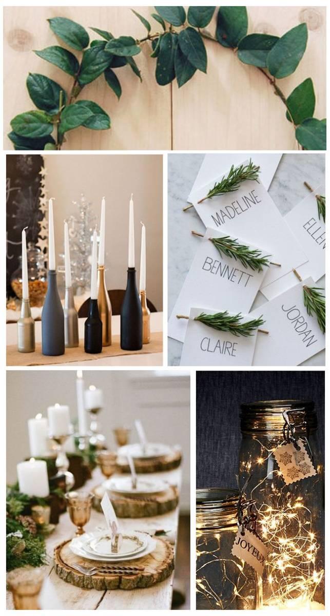 Deco Noel En Bois Naturel 10 idées déco pour décorer votre table de noël ! - le blog