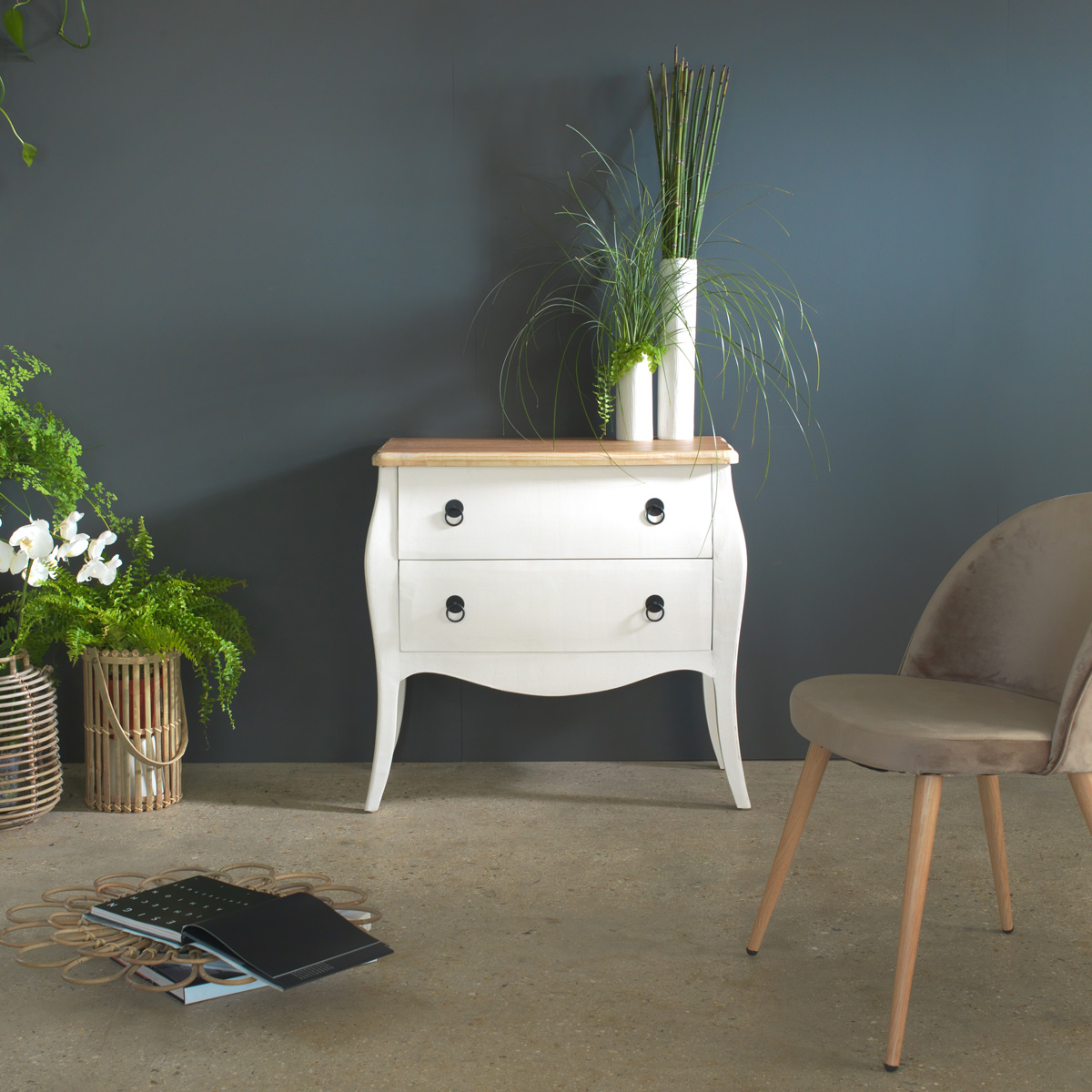 commode baroque style industriel
