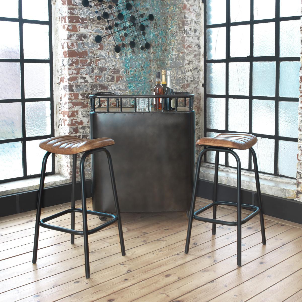 tabouret de bar industriel cuisine