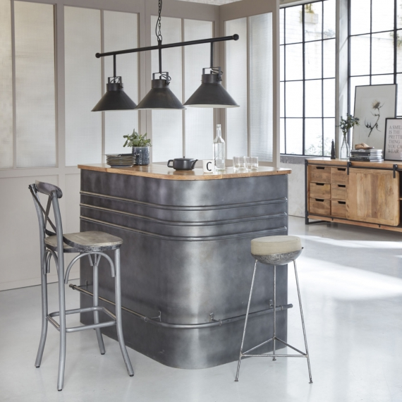 tabouret bar en metal deco industrielle