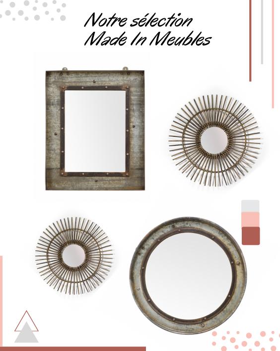 Sélection de miroirs Made In Meubles pour une montée d'escalier