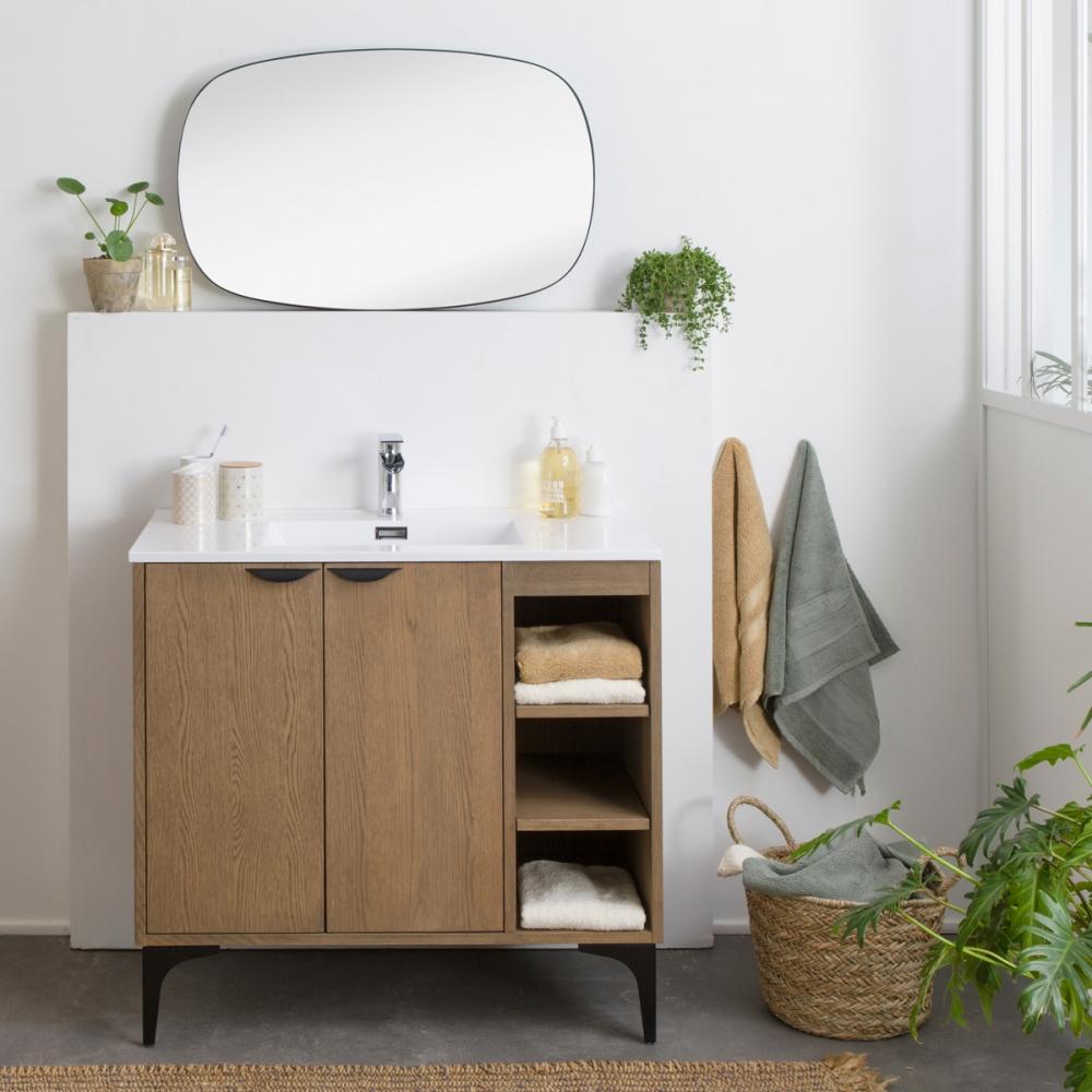 Meuble de salle de bain style industriel avec rangements