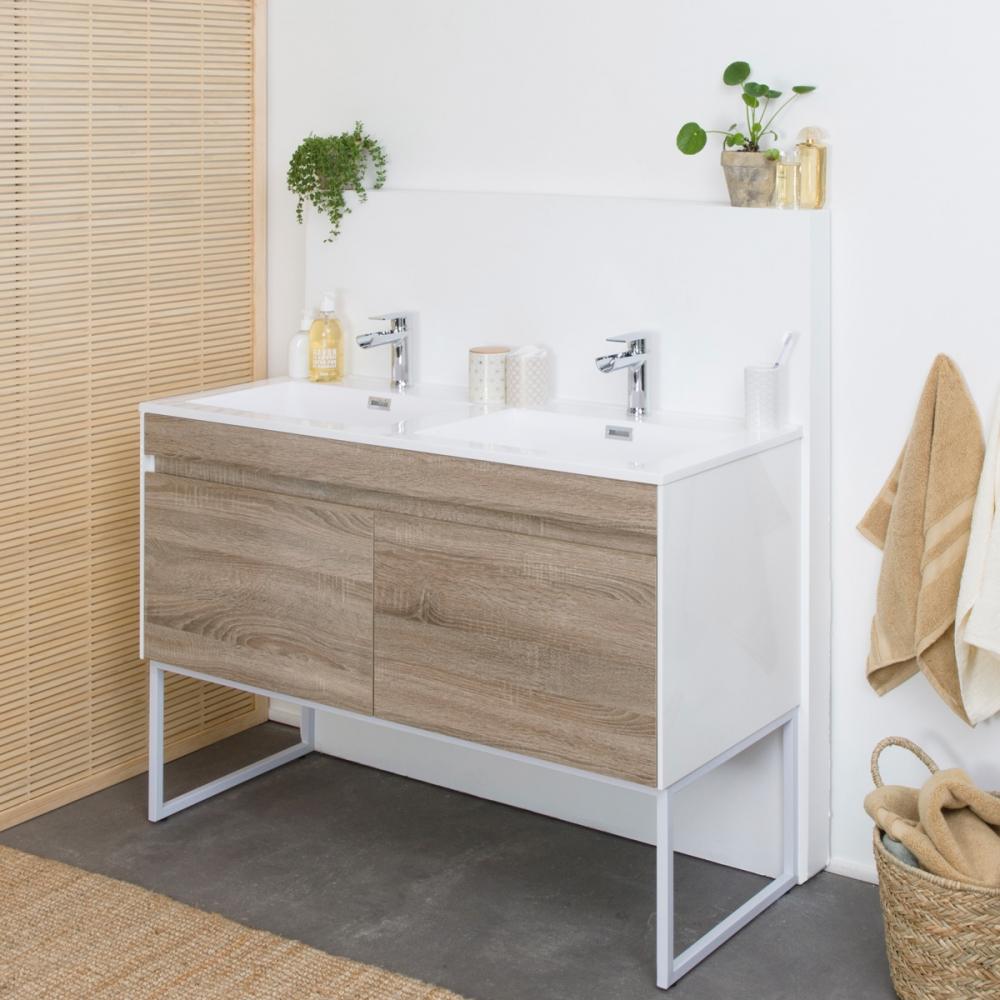 Meuble de salle de bain ambiance bohème