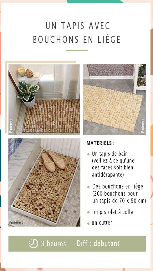 Matériels nécessaires pour réaliser un tapis avec des bouchons de liège