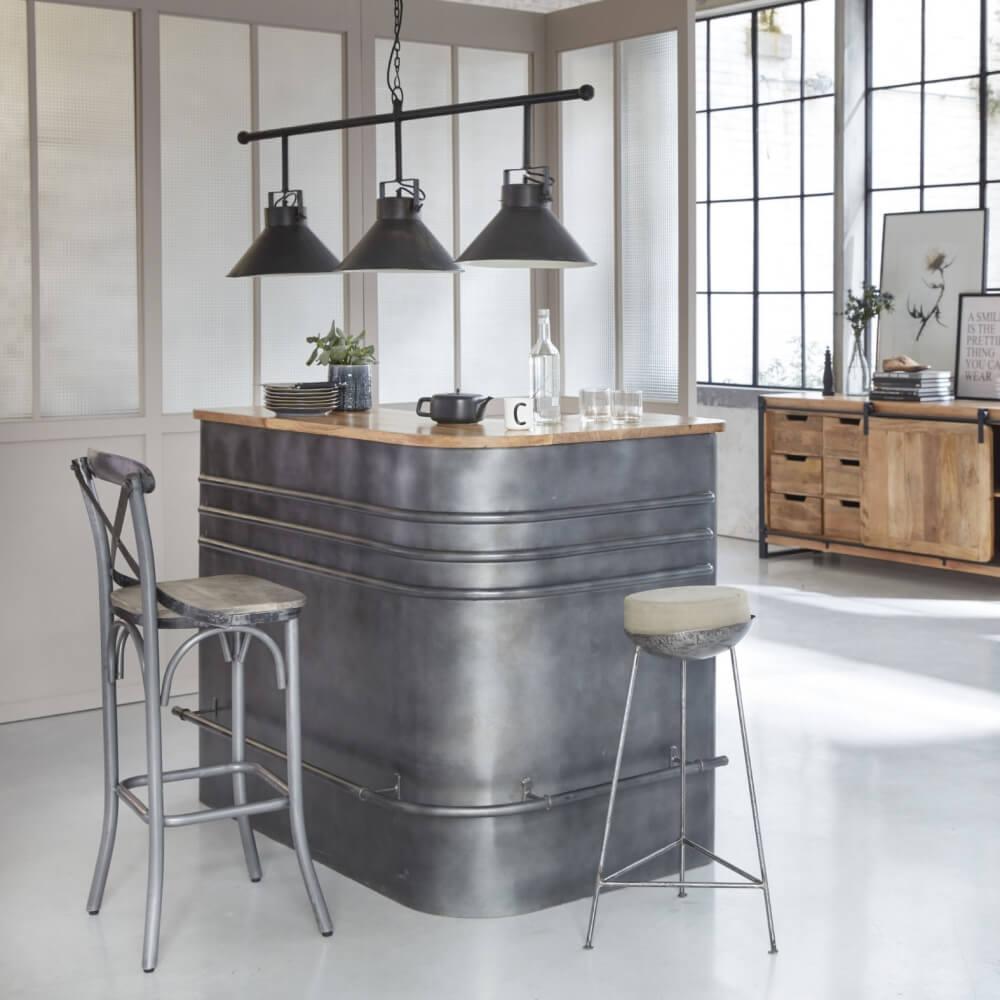 Bar dans un style industriel