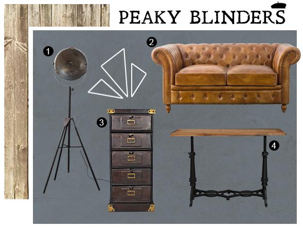 Meubles essentiels pour réaliser un décor digne de la série Peaky Blinders