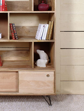 biblioth que bois biblioth que bois massif made in meubles. Black Bedroom Furniture Sets. Home Design Ideas