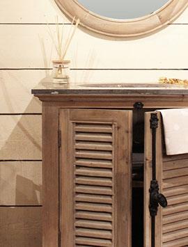 Meuble salle de bain bois massif made in meubles - Meuble salle de bain en pin massif ...