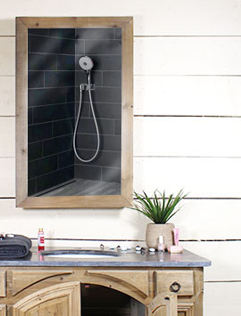 Miroir salle de bain bois made in meubles - Miroir salle de bain bois ...