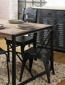 Table Industrielle Table Metal Et Bois Made In Meubles